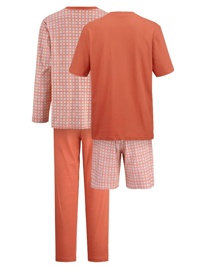 Pyjamaset met pyjama en shortama