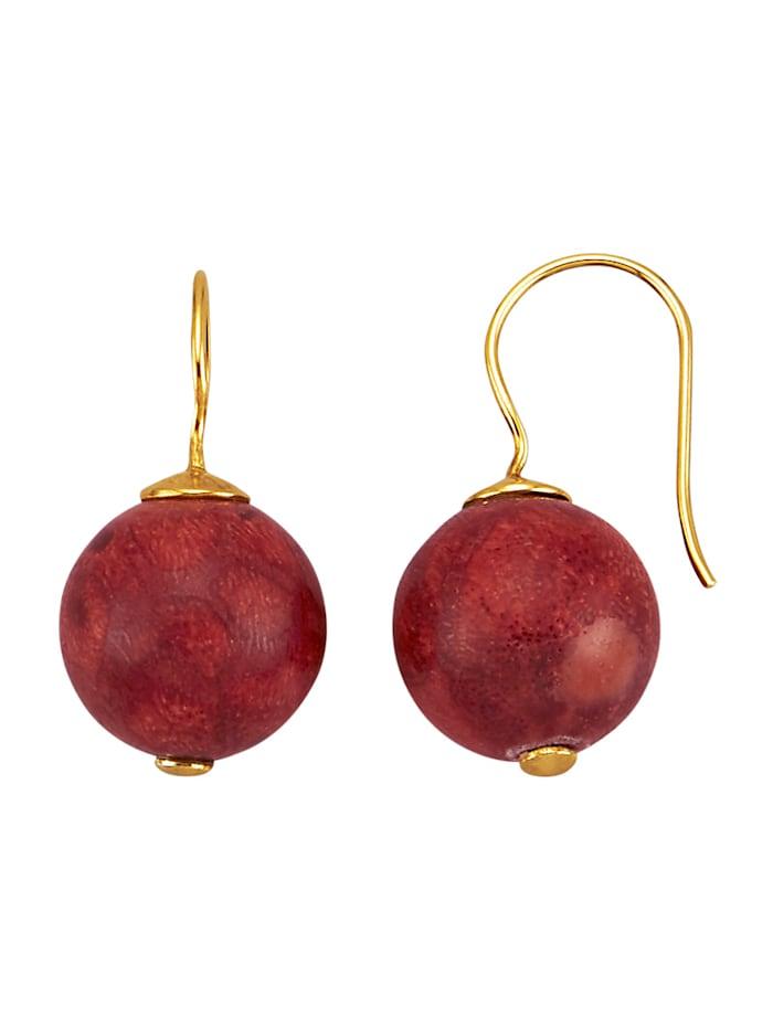 Ohrringe mit Schaumkorallen, Rot