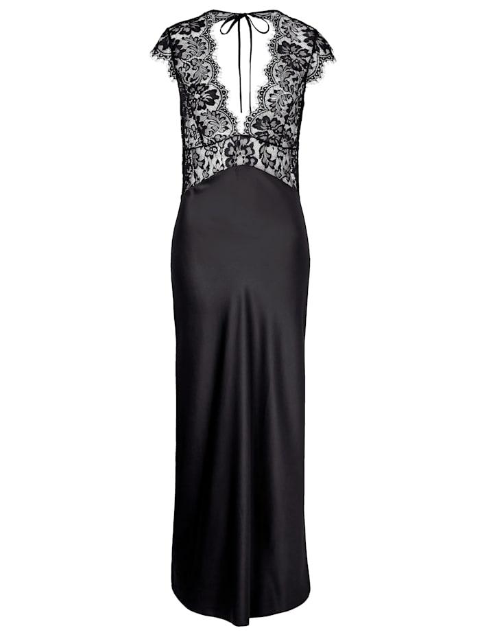 LingaDore Nachtkleid mit Spitze, Schwarz