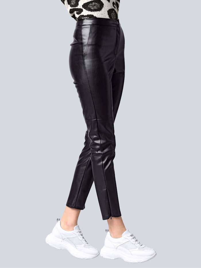Alba Moda Leggings in verkürzter Form, Schwarz