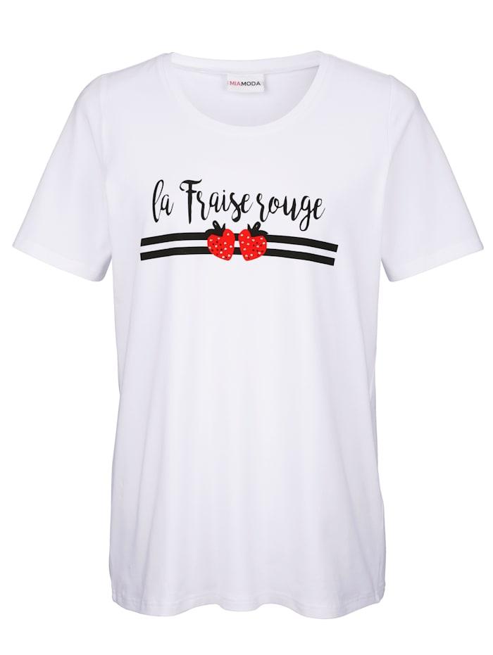 Shirt mit Erdbeermotiv im Vorderteil