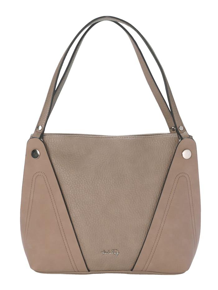 Taschenherz Shopper aus hochwertigem Softmaterial, sand