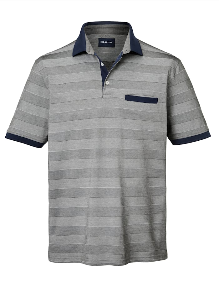 BABISTA Poloshirt aus mercerisierter Baumwolle, Silbergrau