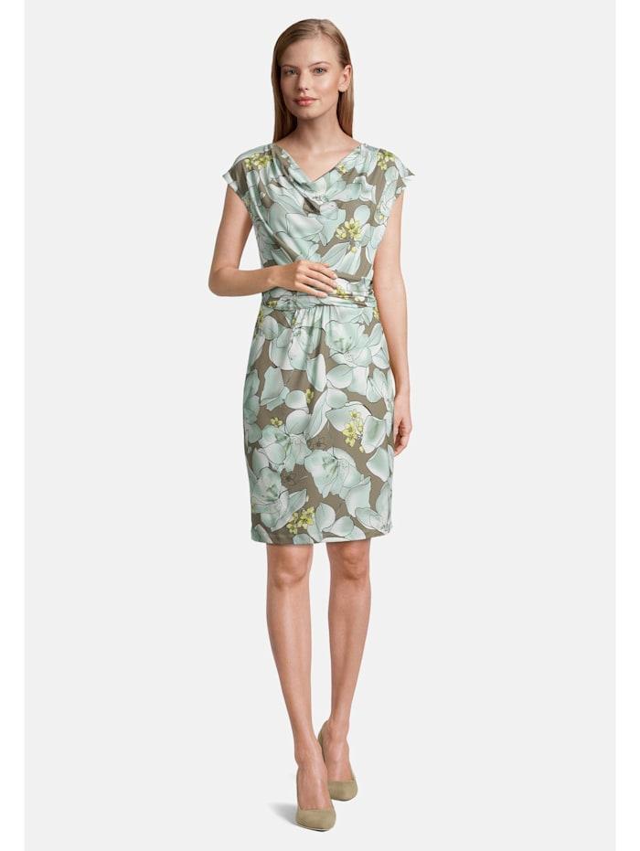 Betty & Co Jerseykleid ohne Arm, Grün