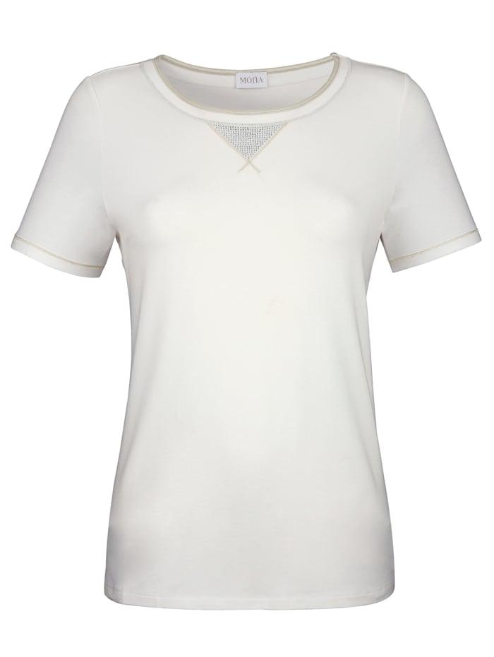 Shirt mit Glanzgarn und Schmucksteinen