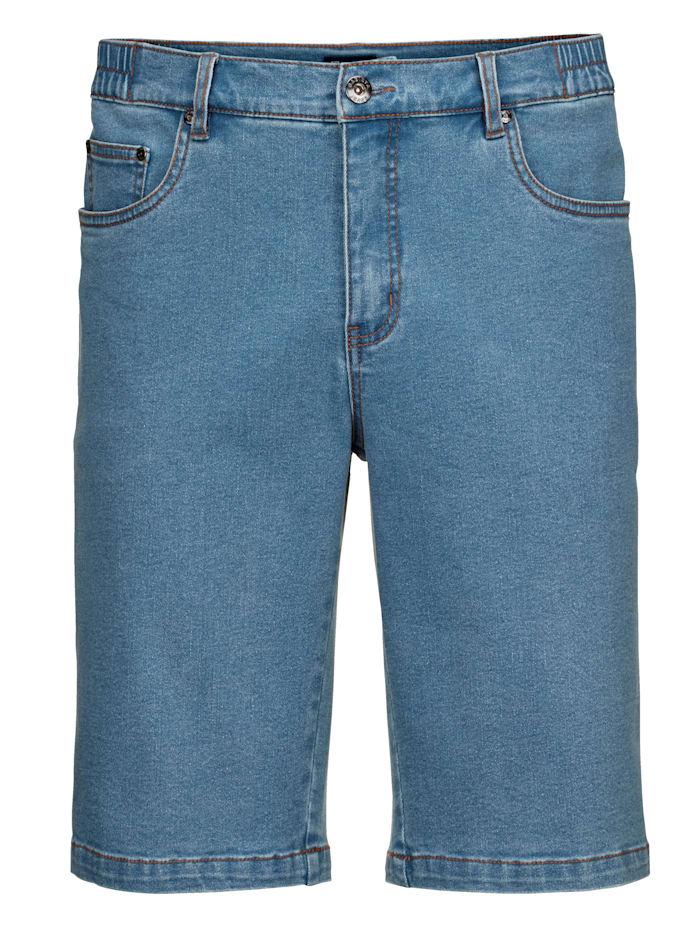 BABISTA Jeansbermuda met elastische bandinzetten opzij, Lichtblauw