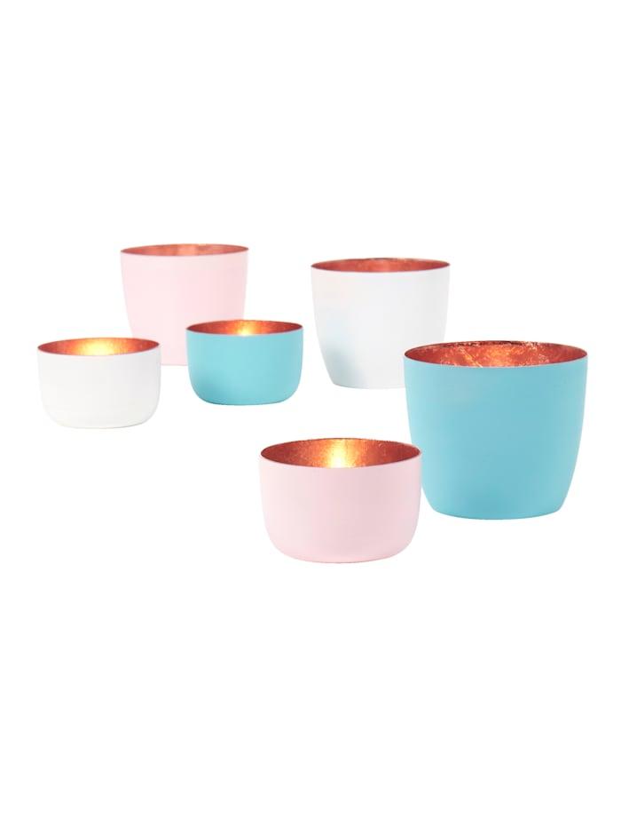 Teelichthalter-Set, 6-tlg.