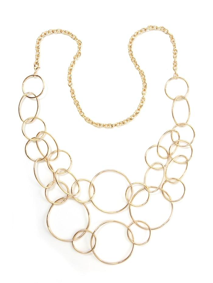 Collezione Alessandro Lange Kette Eliza mit großen Ringen, gold