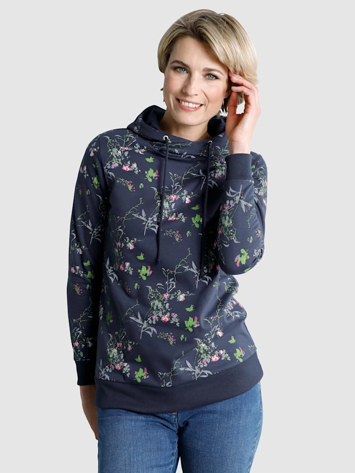 Dress In Sweatshirt Pretty all-over print, Navy