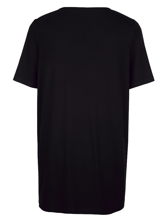 Longshirt mit Steinchen im Paisleydesign besetzt