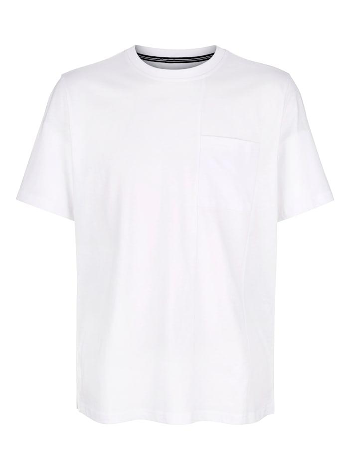 Roger Kent T-shirt med delningssömmar, Vit