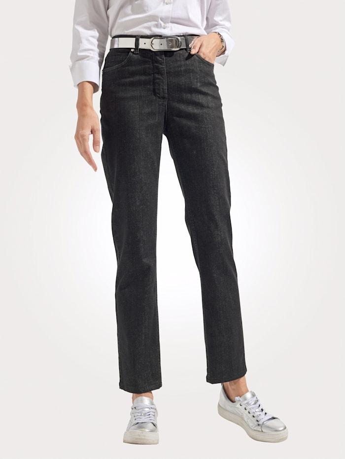 MONA Jeans in sportief 5-pocketmodel, Zwart