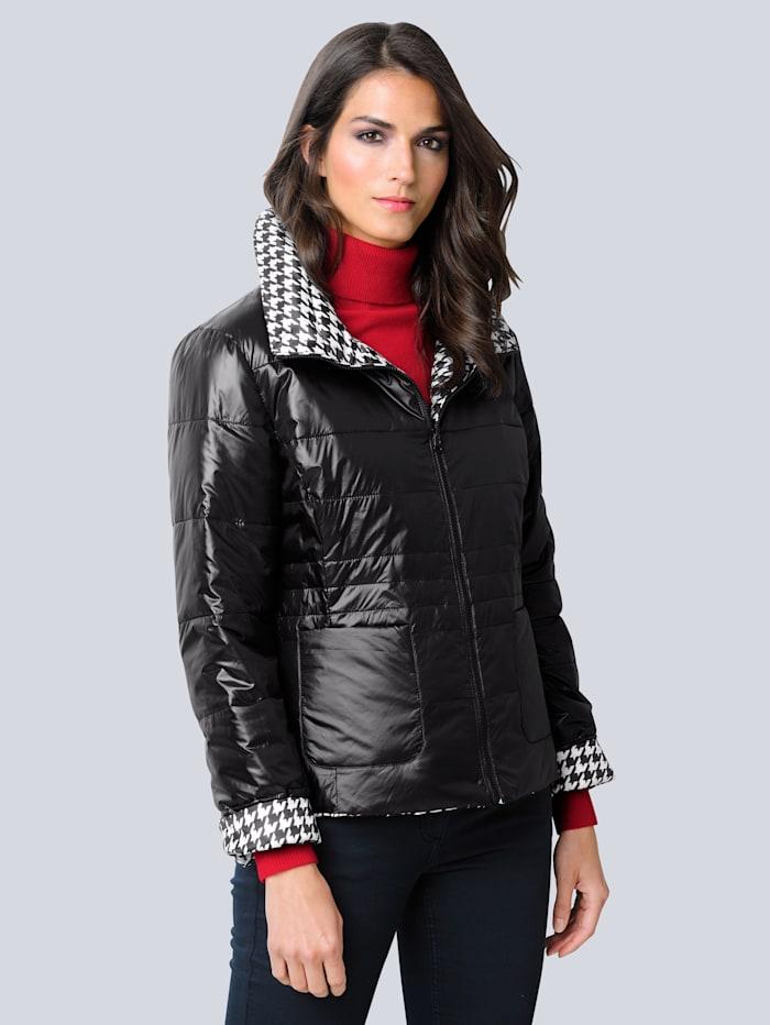 Alba Moda Keerbare jas met twee mooie kanten, Zwart/Wit