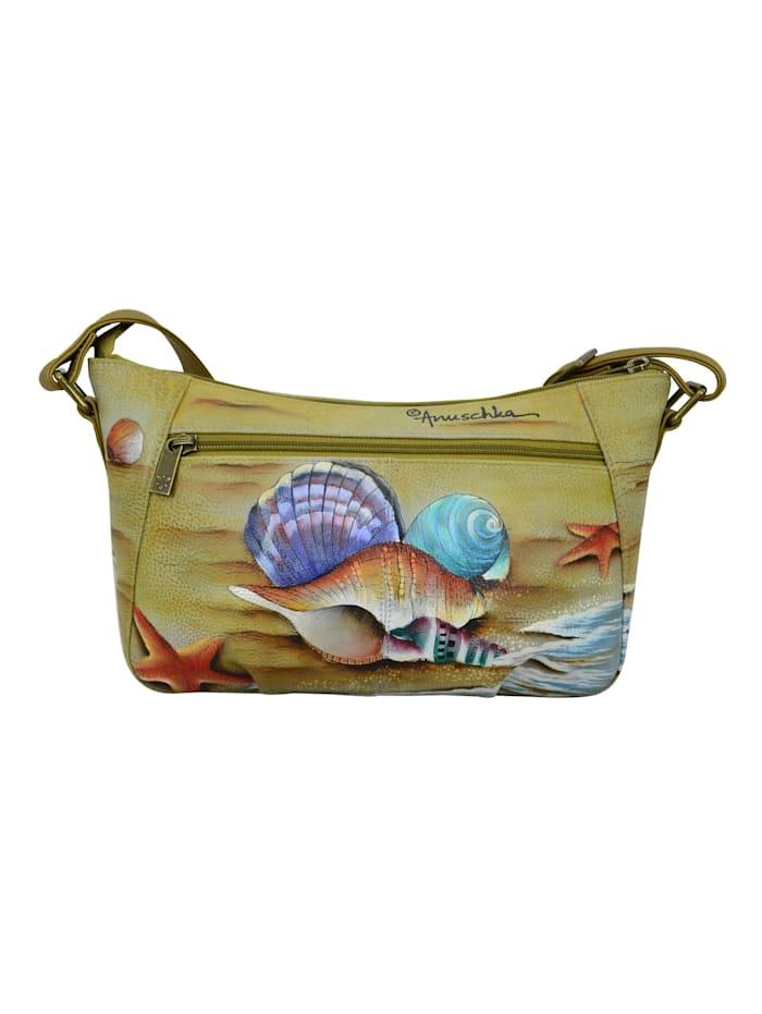 Schultertasche Gift of the Sea aus handbemaltem Leder