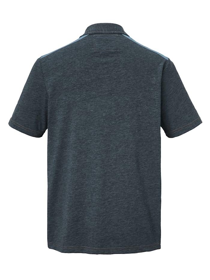 Poloshirt mit Denim-Besätzen