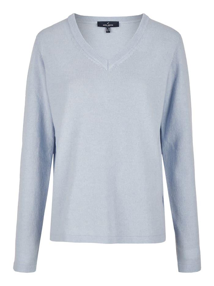 Daniel Hechter Klassischer Pullover mit V-Ausschnitt, light blue