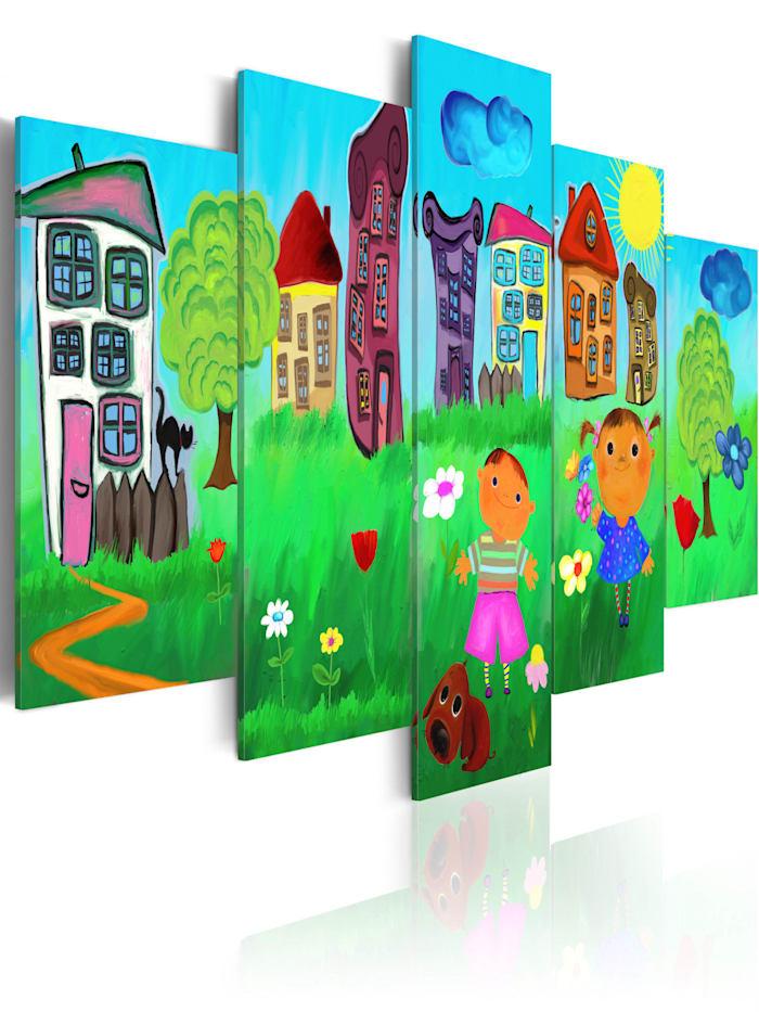 artgeist Wandbild Unbeschwerte Kindheit, mehrfarbig
