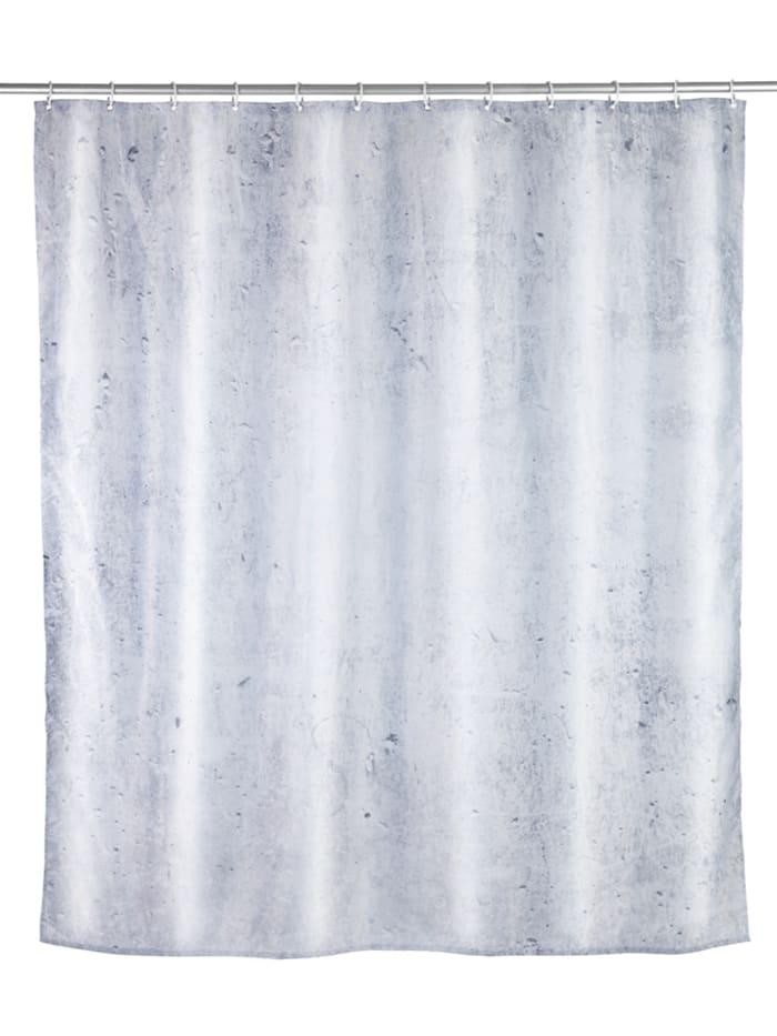 Wenko Duschvorhang Concrete, Textil (Polyester), 180 x 200 cm, waschbar, Mehrfarbig