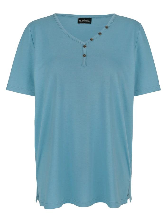 m. collection Koristenapillinen paita, Petroli