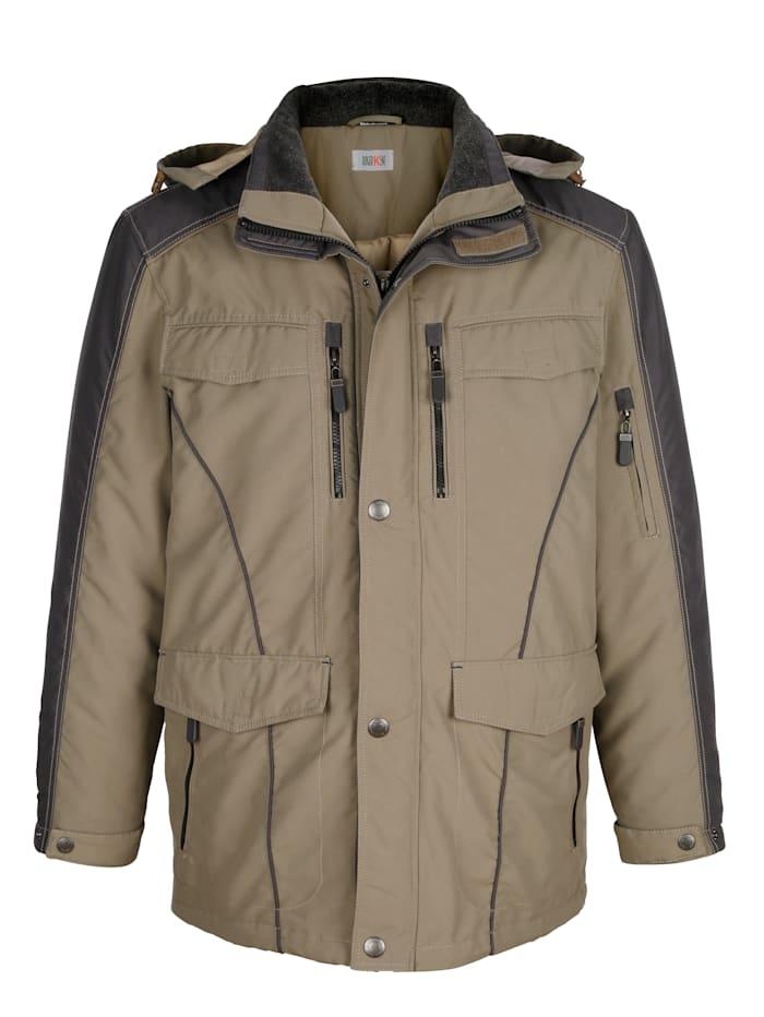 Dlhá bunda s odnímateľnou kapucňou
