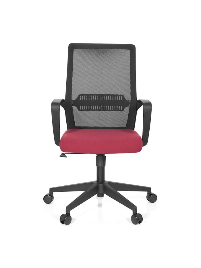 hjh OFFICE Home Office Bürostuhl PRESTON, Schwarz / Rot