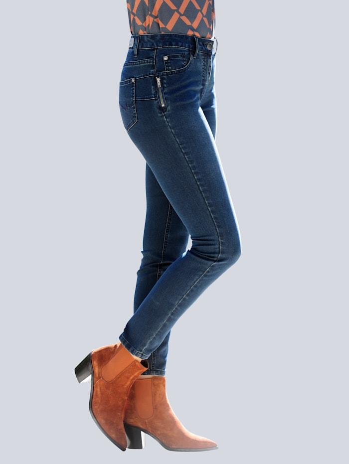 Jeans mit Zipperdetail am Tascheneingriff