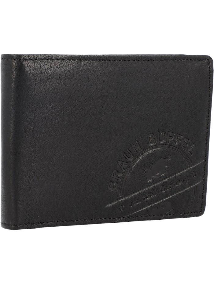 Braun Büffel Parma LP Geldbörse Leder 12 cm, schwarz