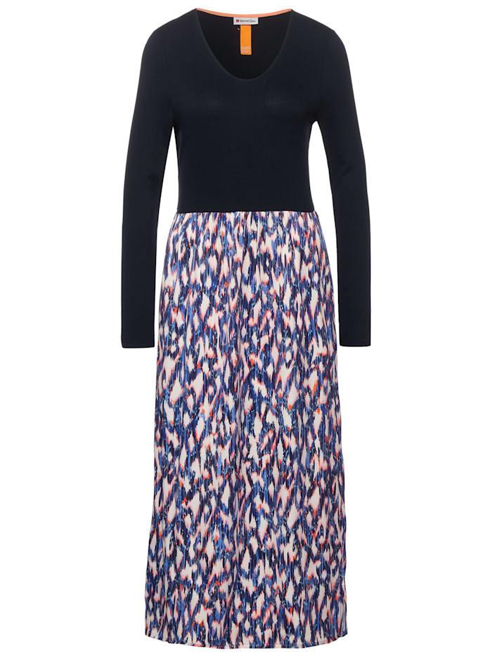 Street One Midi-Kleid mit Ikat Print, dark blue