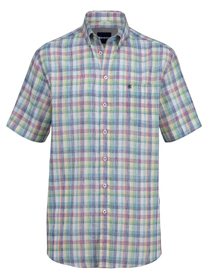 BABISTA Leinenhemd in sommerlicher Qualität, Mintgrün/Rosé