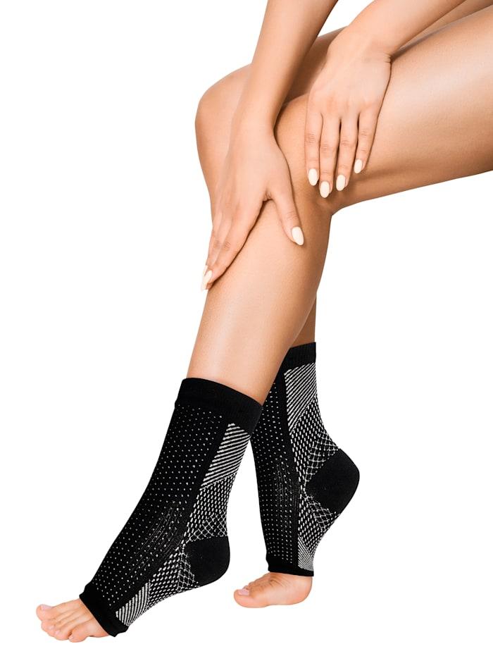 Smarttex Aktiv-Stützsocken -für müde und gestresste Füße, Schwarz