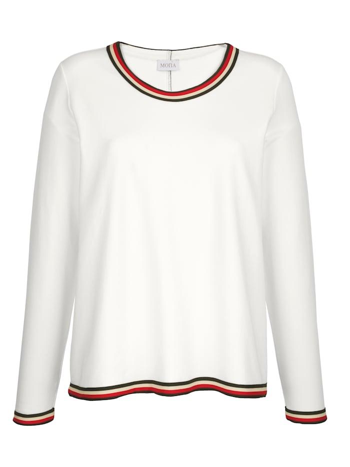 Sweatshirt mit Ringel-Bündchen