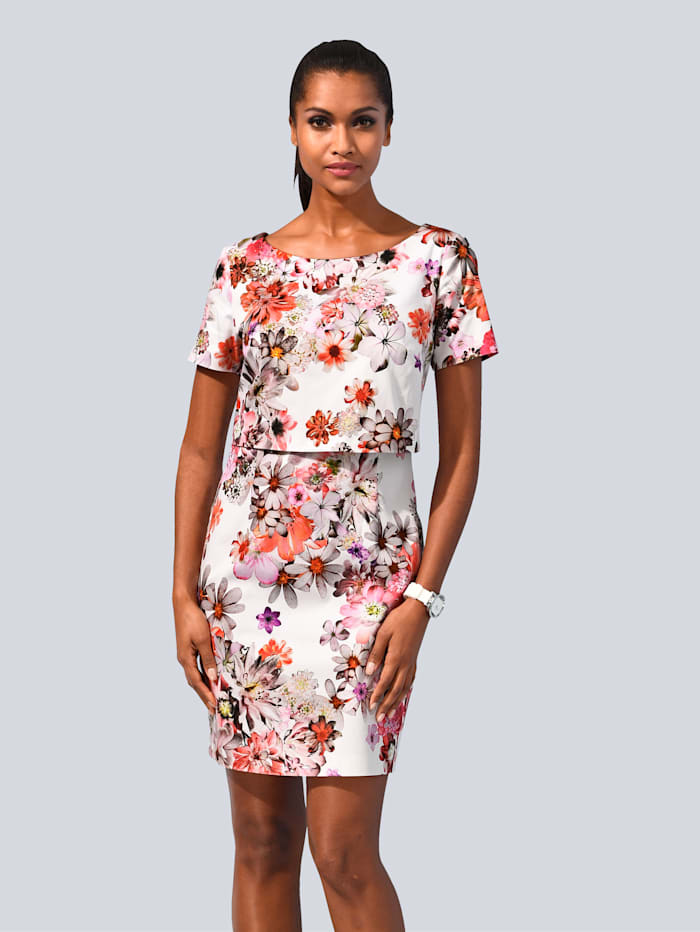 Alba Moda Kleid allover im floralem Print, Multicolor