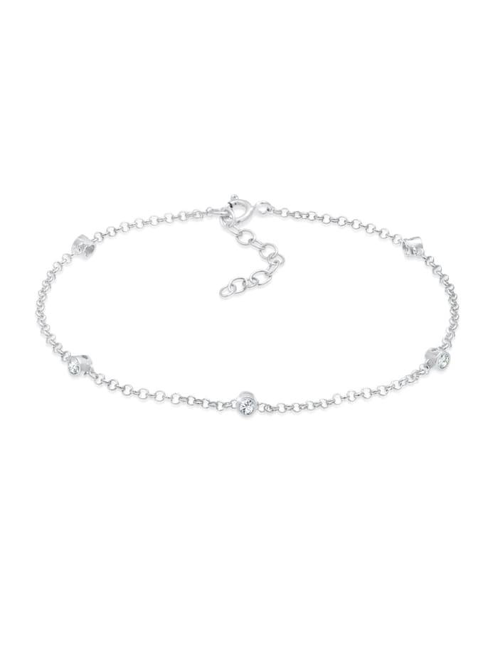 Elli Armband Zart Funkelnd  Kristalle 925 Silber, Silber