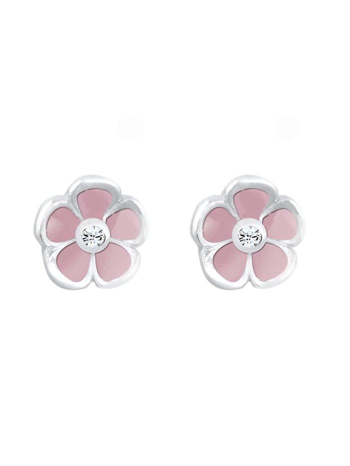 Ohrringe Kinder Blume Floral Kristall 925 Silber