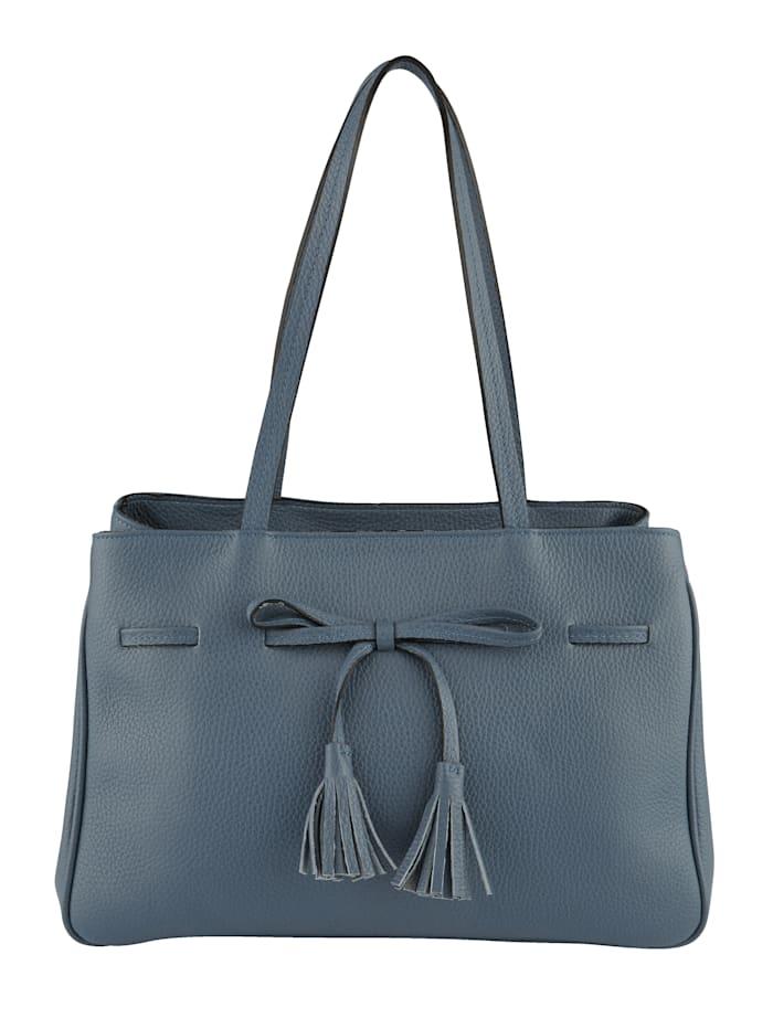 Handbag with decorative tassels