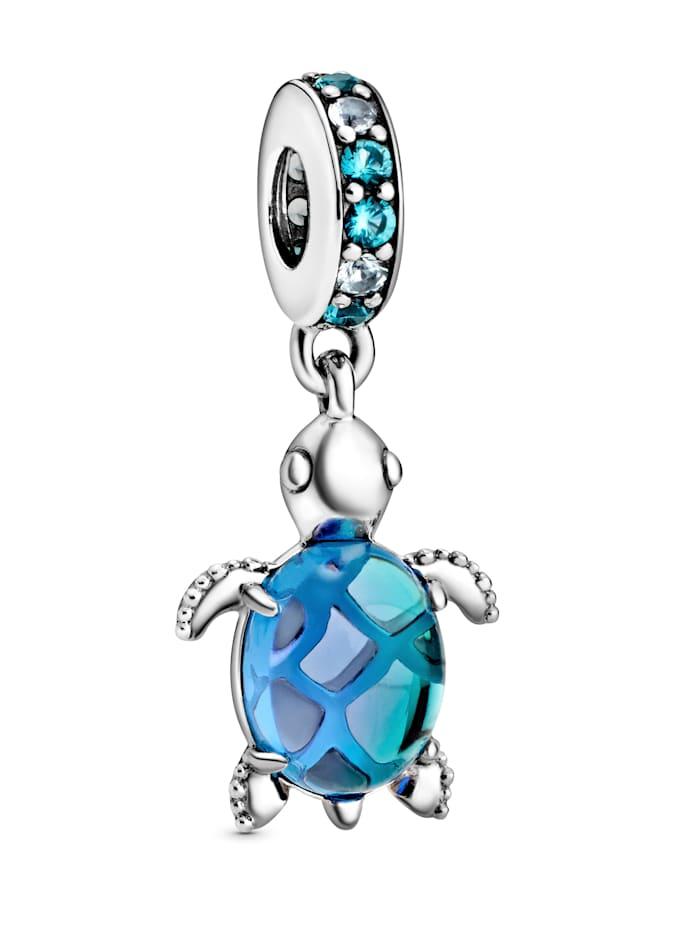 Pandora Charm-Anhänger - Meeresschildkröte Muranoglas - 798939C01, Silberfarben