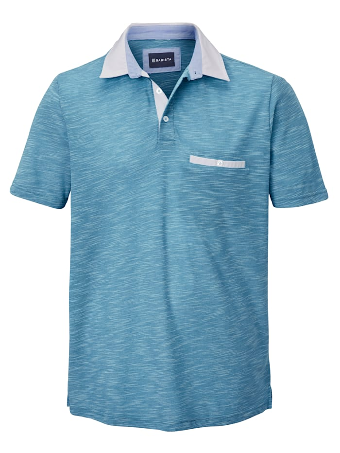 BABISTA Poloshirt in bicolor look, Blauw