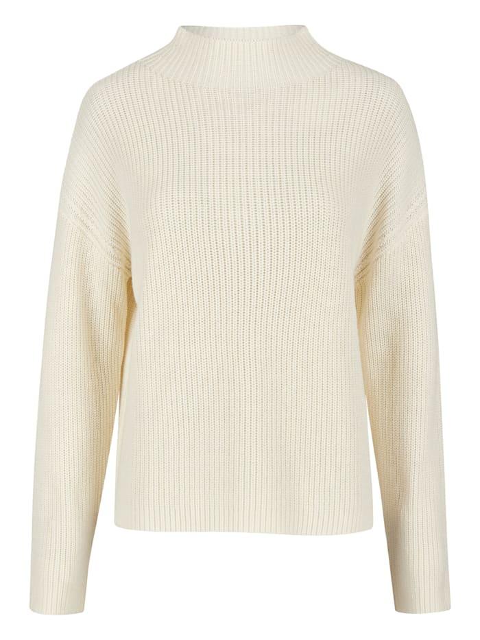 Daniel Hechter Trendiger Pullover mit Stehkragen, off white