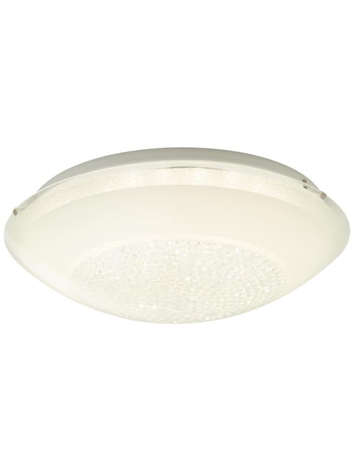 Brilliant Vera LED Wand- und Deckenleuchte 50cm weiß/transparent, weiß/transparent