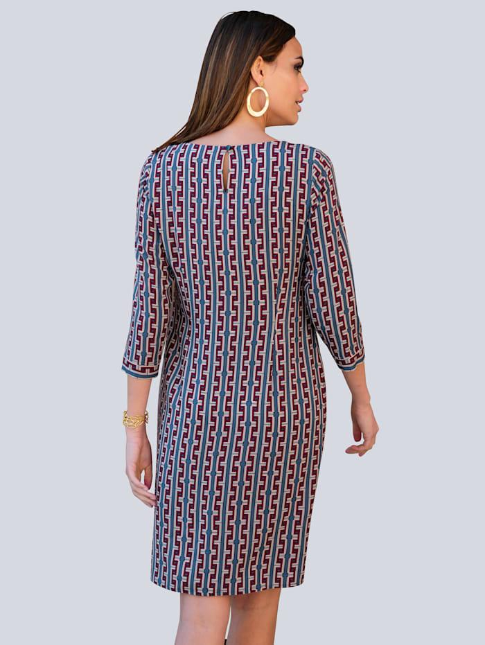 Kleid mit grafischem Druck allover