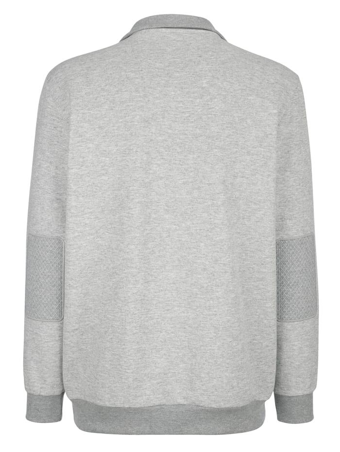 Sweat-shirt en maille chinée