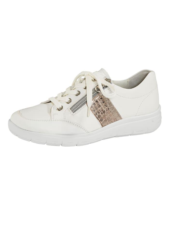 Vamos Šněrovací obuv s podrážkou se vzduchovým polštářkem, Bílá