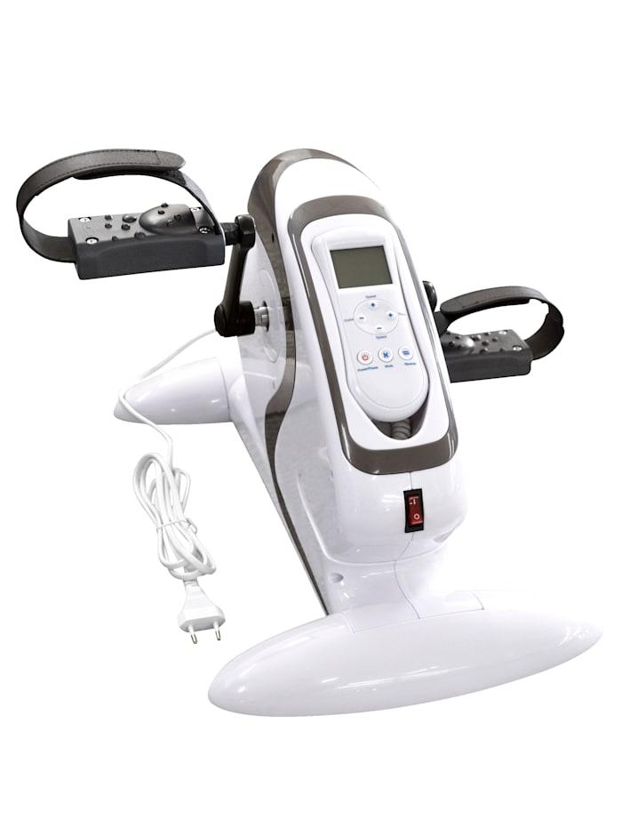 Rehaforum Pedaltrainer Deluxe - mit Elektromotor - Intensität einstellbar - Digitales Display, weiß