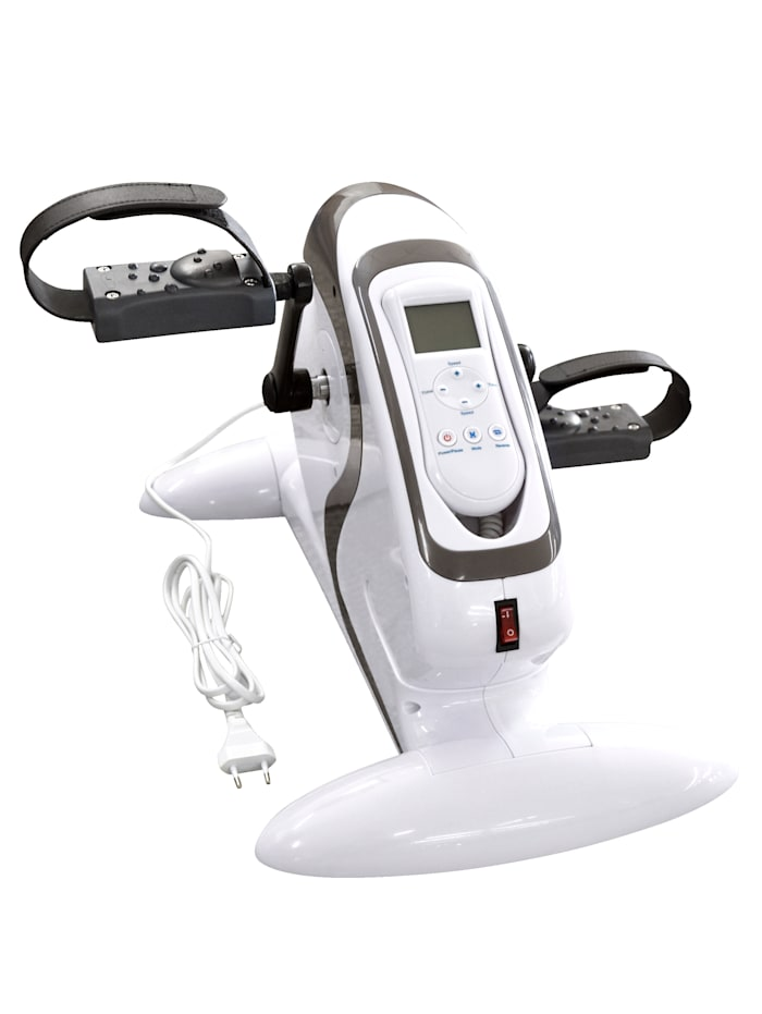 Rehaforum Träningsredskap med pedaler som har inställbar intensitet och digital display, Vit