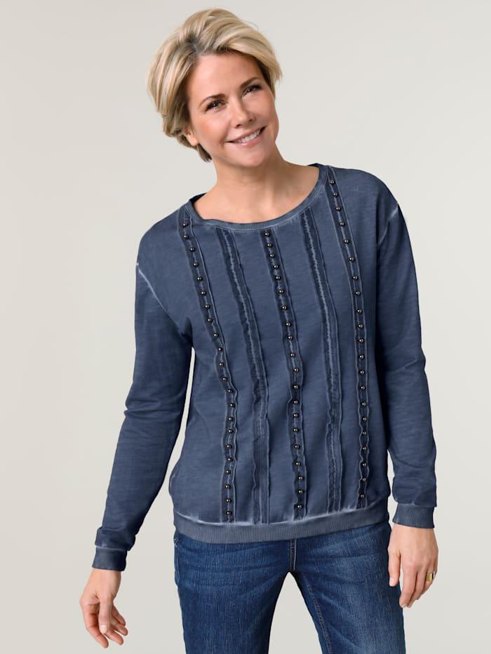 MONA Sweatshirt met modieus kleurverloop, Blauw