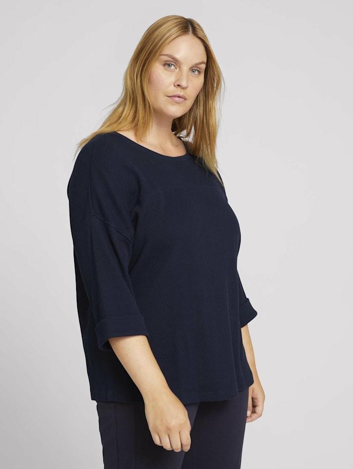 Curvy - 3/4 Arm Shirt mit Bio-Baumwolle