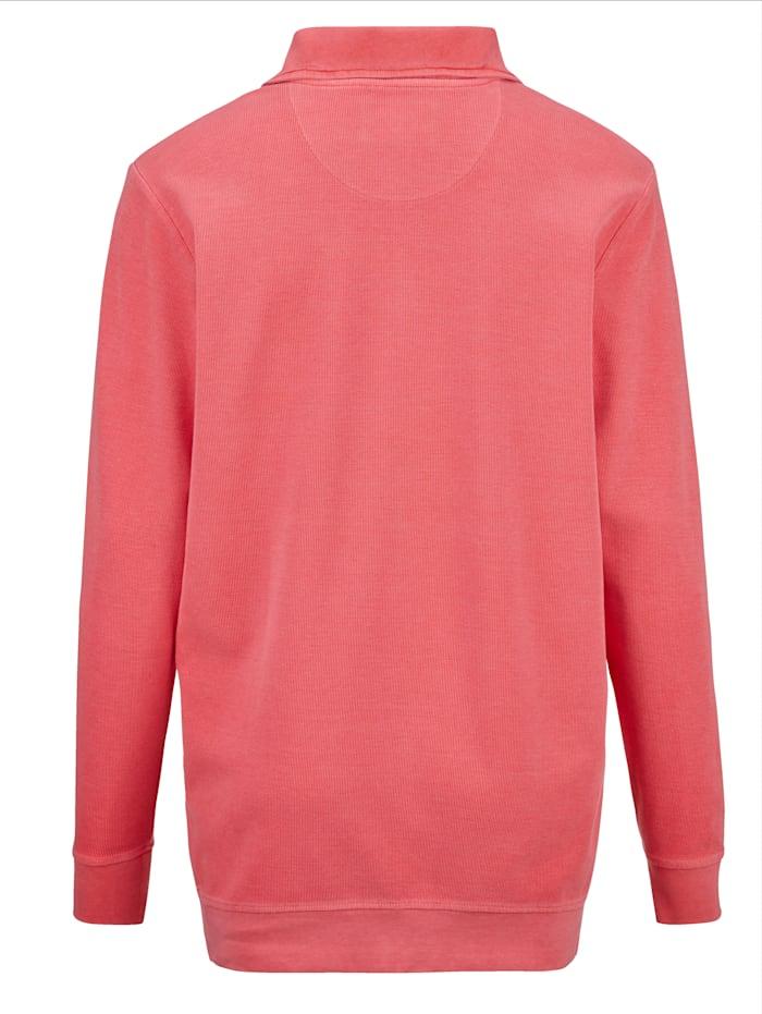 Sweatshirt in gewaschenem Used-Look