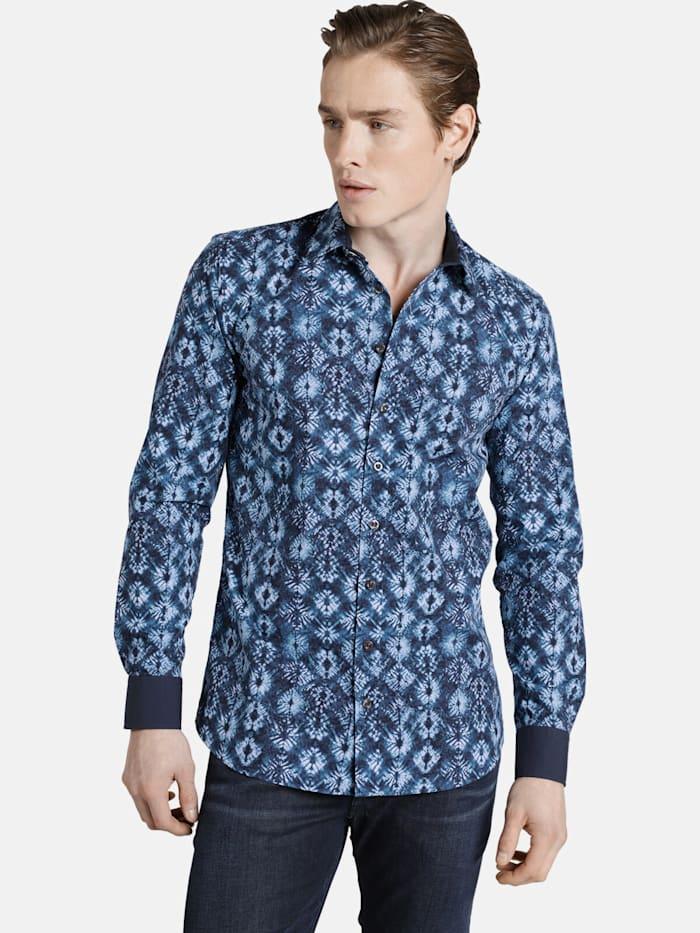 Shirtmaster Shirtmaster Hemd baticflower, dunkelblau