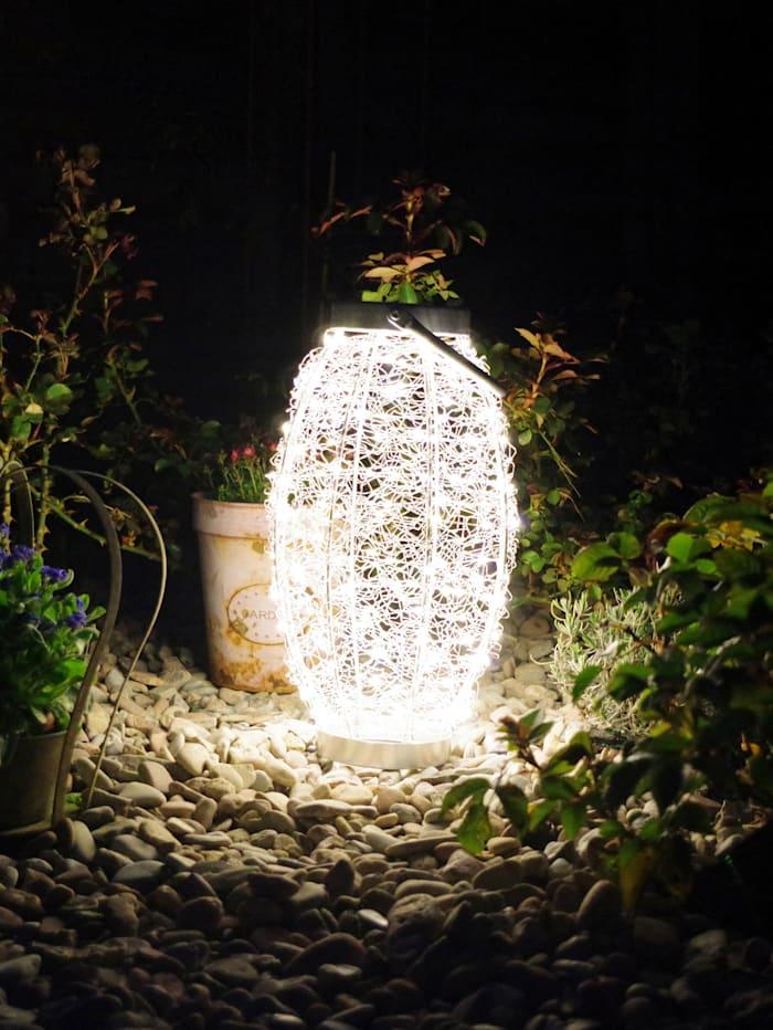 Star Outdoor-LED-Objekt, Laterne, silberfarben