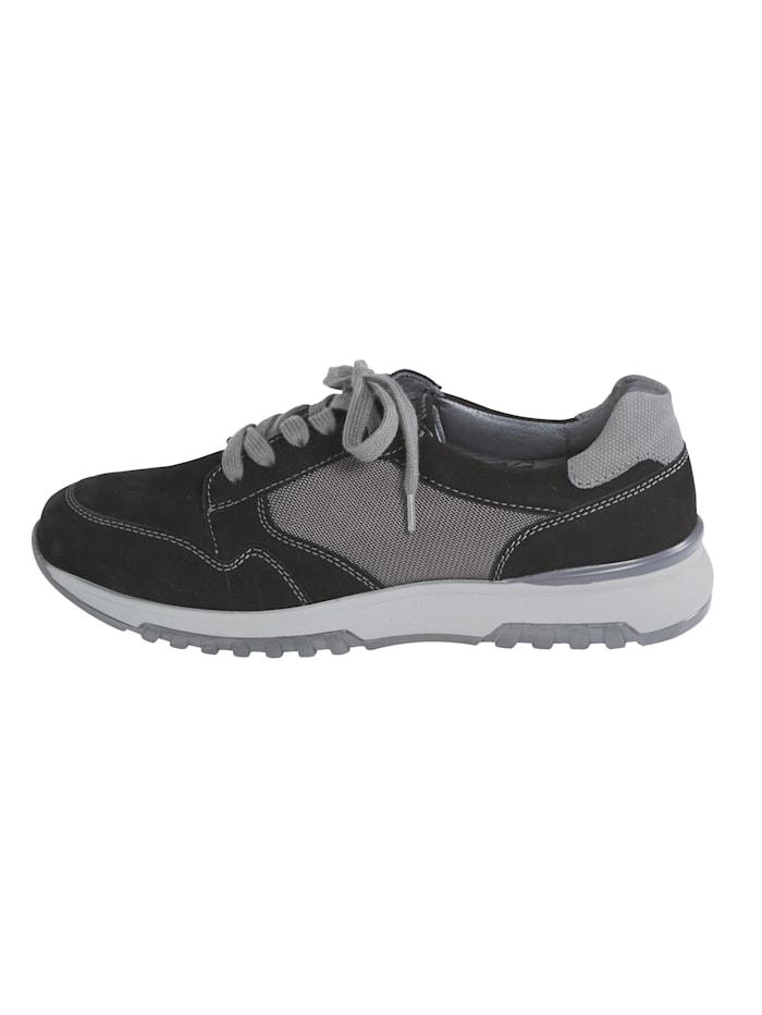 Sneakers en cuir et mesh